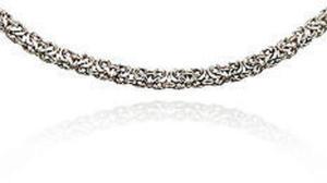 Fine Silver Byzantine Necklace
