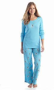 Hue 2PC Thermal & Knit Folded Pajamas