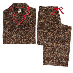Anne Klein Women's Notch Collar Microfleece Pajama Set