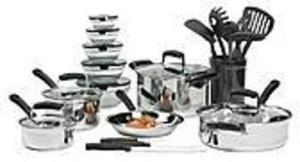 Essential Home 25pc Nonstick Cookware Set