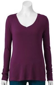 Sonoma Life + Style Everyday Women's Long-Sleeved Crewneck Tee