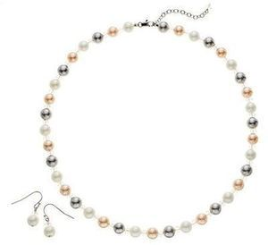 Mother-of-Pearl Necklace and Earring Set