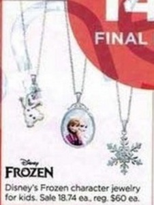 Disney's Frozen Character Jewelry for Kids