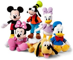 Disney Mini Character Plush Toys