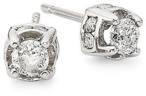 1/2 CT. T.W. Diamond Studs 10K White Gold