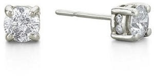 1 CT. T.W. Diamond Swirl Studs 14K White Gold Doorbuster