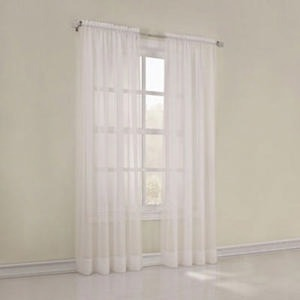 Home Expressions Jacqueline Rod-Pocket Sheer Curtains