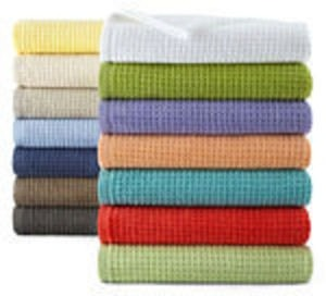 JCPenney Home Quick-Dri Solid or Stripe Bath Towels
