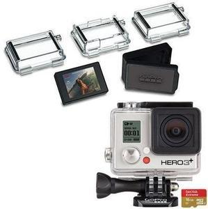 GoPro - Hero3+ Silver Edition Camera + Free 16GB Plus Memory Card and LCD Touch BacPac