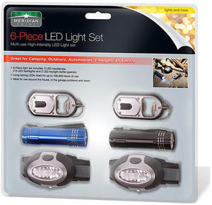 6PC LED Flashlight Set