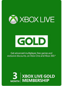 POSA CardXbox Live 3 Month Card
