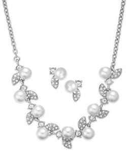 Charter Club Imitation Pearl Necklace & Earrings