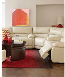 "Nina 139"" 3PC Power-Reclining Leather Sectional"