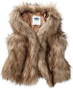 Toddler Girls' Faux Fur Vests