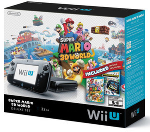 Wii U Console w/ Super Mario 3D World & Nintendo Land Bundle