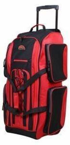 "Verdi 32"" Upright Wheeled Duffel - Red"