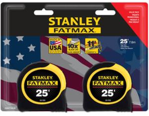 Stanley FATMAX 25-FT Locking Tape Measure 2-PK