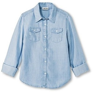 Girls' Cherokee Chambray Button Down Shirt
