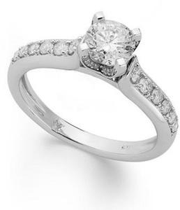 All Diamond Engagement Rings