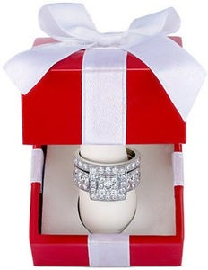 2 ct. tw. Diamond Engagement Ring Bridal Set in 14k White Gold