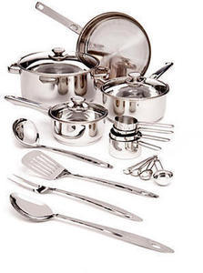 Cook's Tools 19-Pc. Stainless Steel Cookware Set