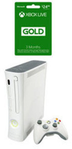 Xbox 360 System w/ Wireless Controller (Refurbished) and 3 Month Xbox Live Gold Membership