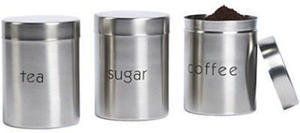 Philippe Richard 3-pc. Stainless Steel Canister Set with Lids