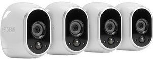 NETGEAR Arlo Smart Home Indoor/Outdoor Wireless High-Definition Security Cameras 4 Pack