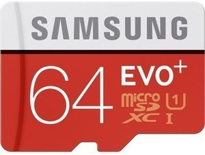 Samsung EVO+ 64GB microSDHC Class 10 UHS-1 Memory Card
