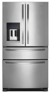 Whirlpool 25CuFt 4-Door French Door Stainless Steel Refrigerator with External Refrigerated Drawer | WRX735SDBM