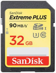 SanDisk 32GB Extreme Plus Class 10 SDHC