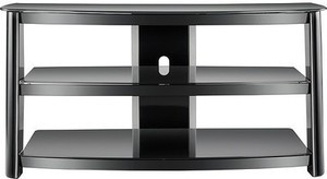 "Insignia - TV Stand for Most Flat-Panel TVs Up To 47"" - Black"