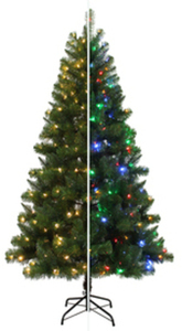 Holiday Living 6.5-ft Pre-Lit Alpine Artificial Christmas Tree w/ Color Changing LED Lights