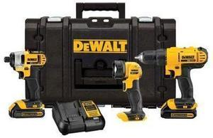 DeWalt 20 Volt Max Lithium-Ion 3 Tool Kit