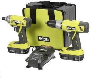 Ryobi 18 Volt Lithium-Ion 2 Tool Kit