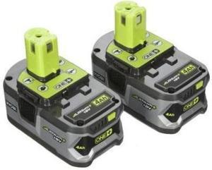 Ryobi 2 Pack 18 Volt Lithium Battery