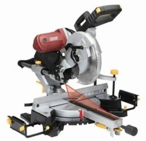 "Chicago Electric 12"" Double-Bevel Sliding Compound Miter Saw With Laser Guide System"