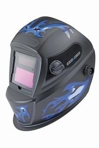 Chicago Electric Auto Darkening Welding Helmet with Blue Flame Design