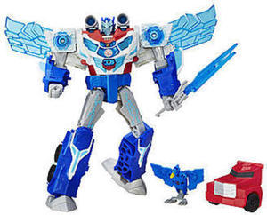 Transformers Robots in Disguise Power-Surge Optimus Prime and Aerobolt