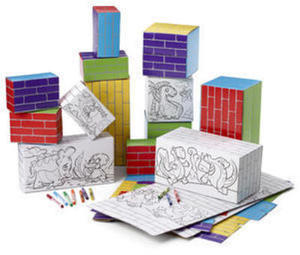 Crayola Kids Work 50pc Color Your Own Building Set