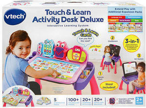 VTech Touch and Learn Activity Desk Deluxe Interactive Learning System - Pink