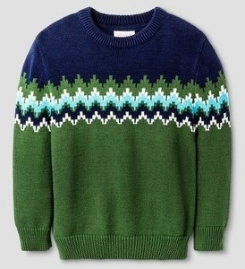 T Geo Green Pullover