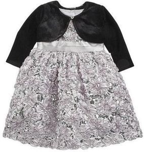 Blueberi Toddler Girl Sequin Dress with Shrug
