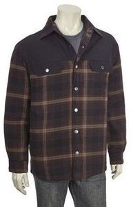 Norhtcrest Mens Quilted Twill Trim Flannel