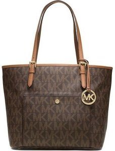 Michael Kors Jet Set Large Snap Pocket Tote Bag