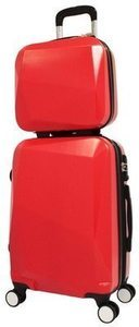 World Traveler Diamond 2-Piece Carry-on Spinner Luggage Set