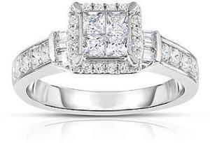 Wrapped In Radiance 10KW 3/4 CTTW Certified Diamond Square Ring