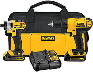 DeWalt 20V MAX Cordless Lithium Ion Drill Driver and Impact Driver Kit DeWalt 20-Volt Max Drill and Impact Driver Combo
