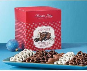 Fannie May Very Merry Mini Pretzel Collection 1.375 lbs Fannie May Very Merry Mini Pretzels 22 oz.