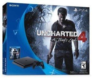 PlayStation 4 Slim 500GB Uncharted 4 Bundle + $30 GiftCard